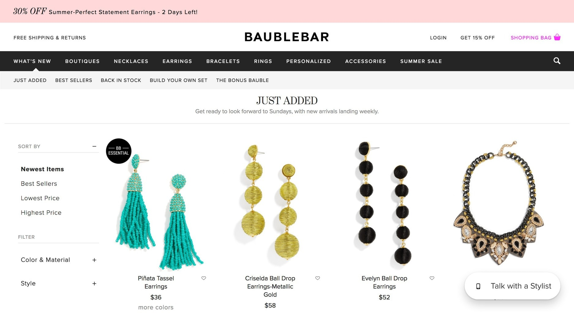 Best cheap shopping sites: Baublebar