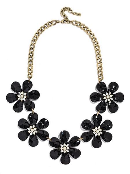 BaubleBar twiggy necklace in black