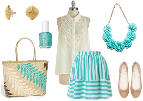 Beach club outfit 2