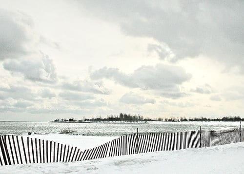 A beach in winter