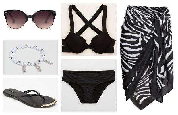 Beach sarong black spring summer outfit