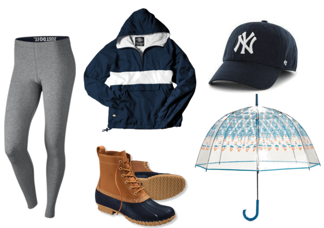 Bean Boot Rainy Day Outfit