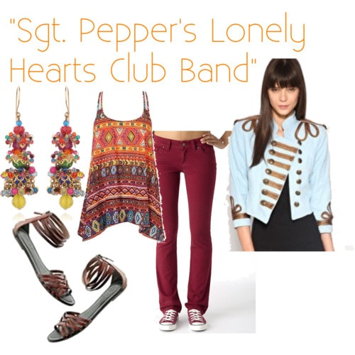 sgt pepper inspired outfit