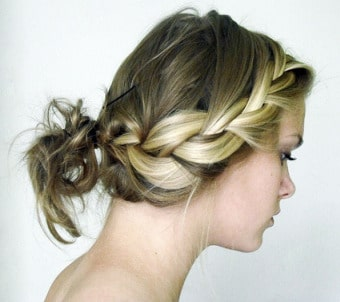 What an Amazing Messy French Braided Bun!