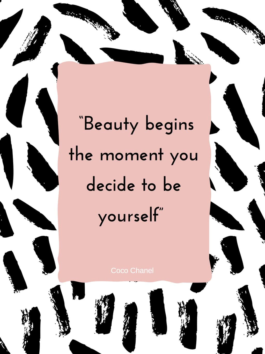Fashion quotes: Beauty begins the moment you decide to be yourself