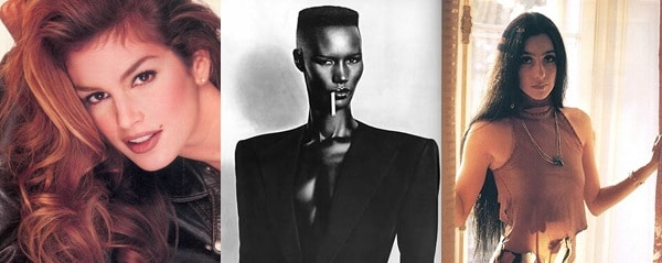 Beauty in imperfections - Cindy Crawford and her mole, Grace Jones and her cheekbones, Cher and her nose
