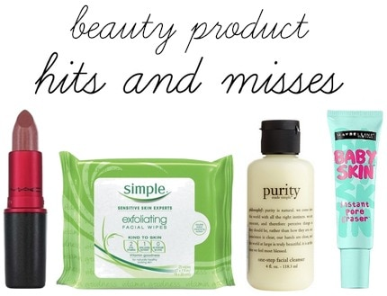 Beauty product hits and misses
