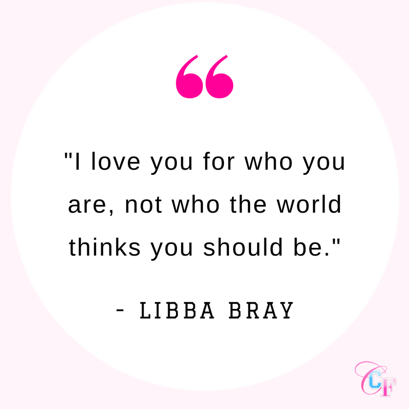 Quote: I love you for who you are, not who the world thinks you should be