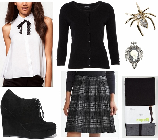 Beetlejuice fashion- outfit inspired by Lydia's school uniform
