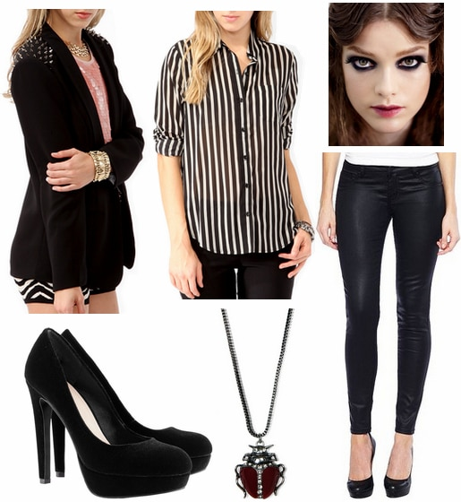 Beetlejuice inspired outfit