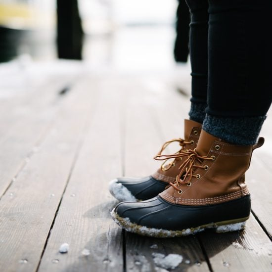 Below freezing fashion: What to wear when it's really, really cold outside. Photo of a girl wearing snow boots