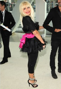 Betsey Johnson at the CFDA awards in 2009