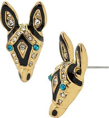 Betsey Johnson zebra earrings