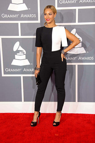 Beyoncé in Osman Yousefzada at the 2013 Grammys