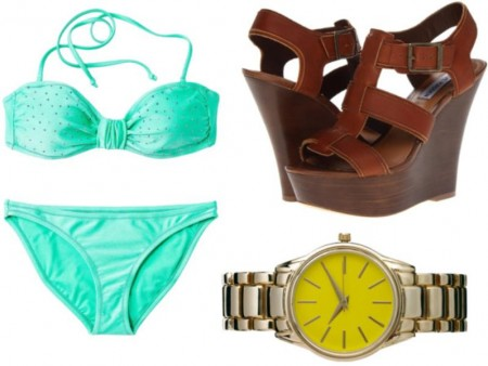 Bikini shoe and watch
