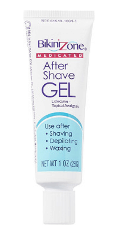 Bikini zone after shave gel