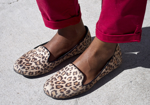 Cheetah loafers at UNLV