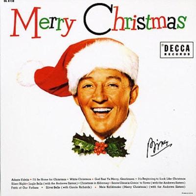 Bing Crosby Merry Christmas album cover