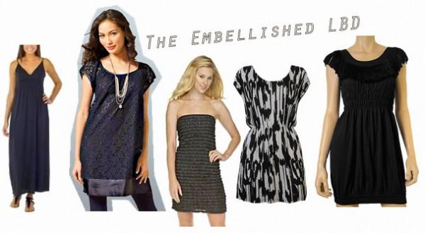 Embellished black clothing