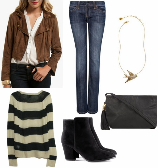 Black and brown outfit 1