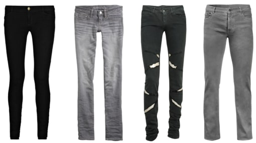 Black and Grey Jeans