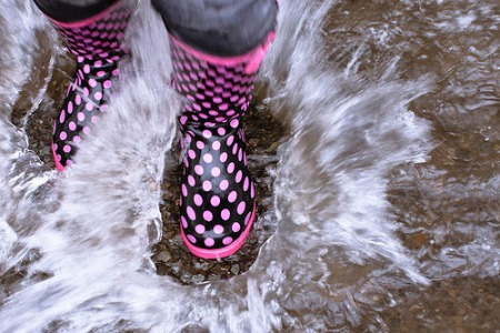 black-and-pink-rain-boots