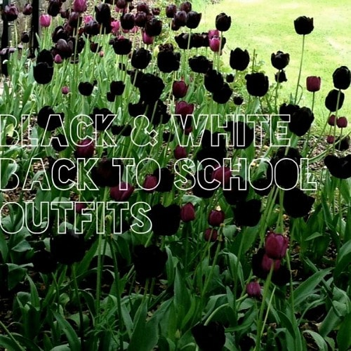 Black and white back to school outfits