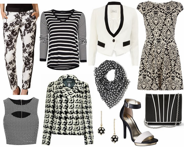 Black and white clothes and accessories under $50