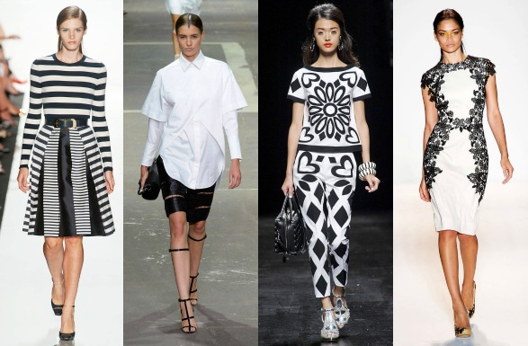 Black and white on spring 2013 runways