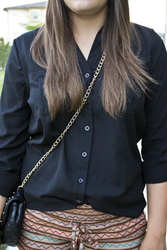 Black chiffon blouse at the university of kansas