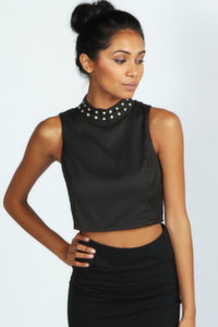 Black crop top