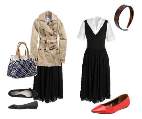 black dress 2 ways