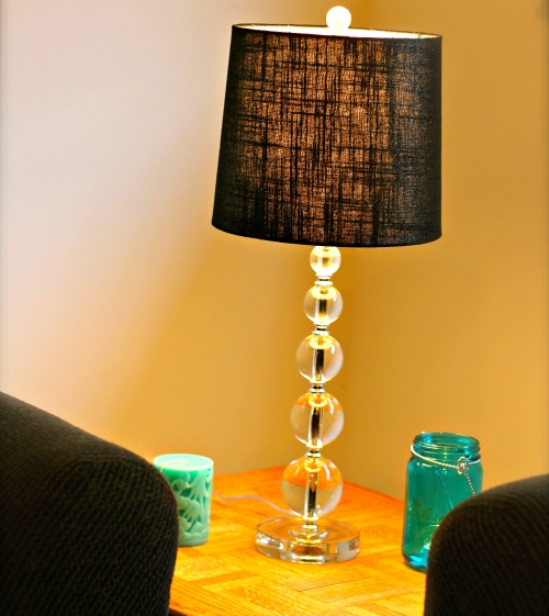 Black-Lampshade-Stack-of-Crystal-Sphere-Lamp-by-Teal-Candles