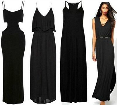 Black maxi dress wardrobe staple