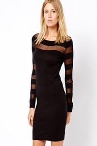 Black mesh dress 2