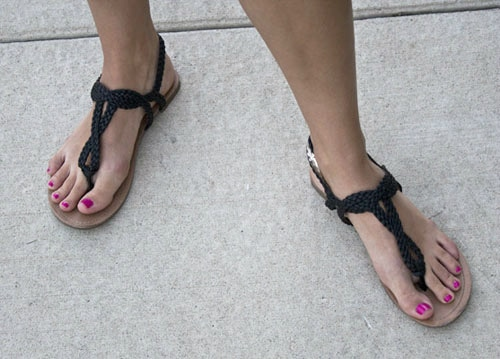 Black sandals at the university of kansas