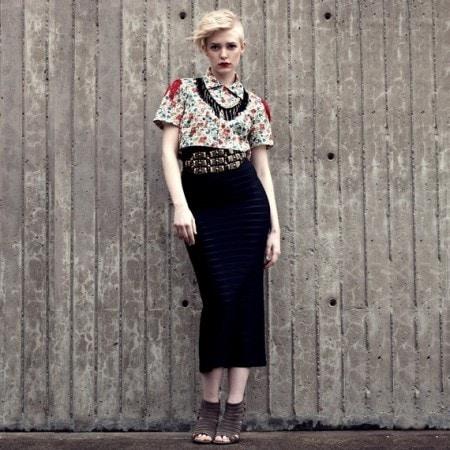 Sheer black midi skirt from Etsy