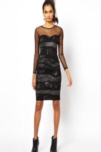 Black mesh dress 1