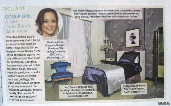 Blair Waldorf's Dorm Room