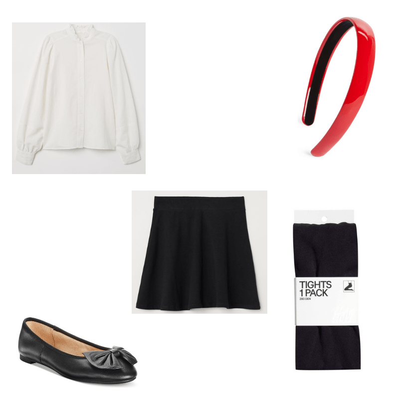 f21caef3139c Blair Waldorf-inspired outfit with white blouse