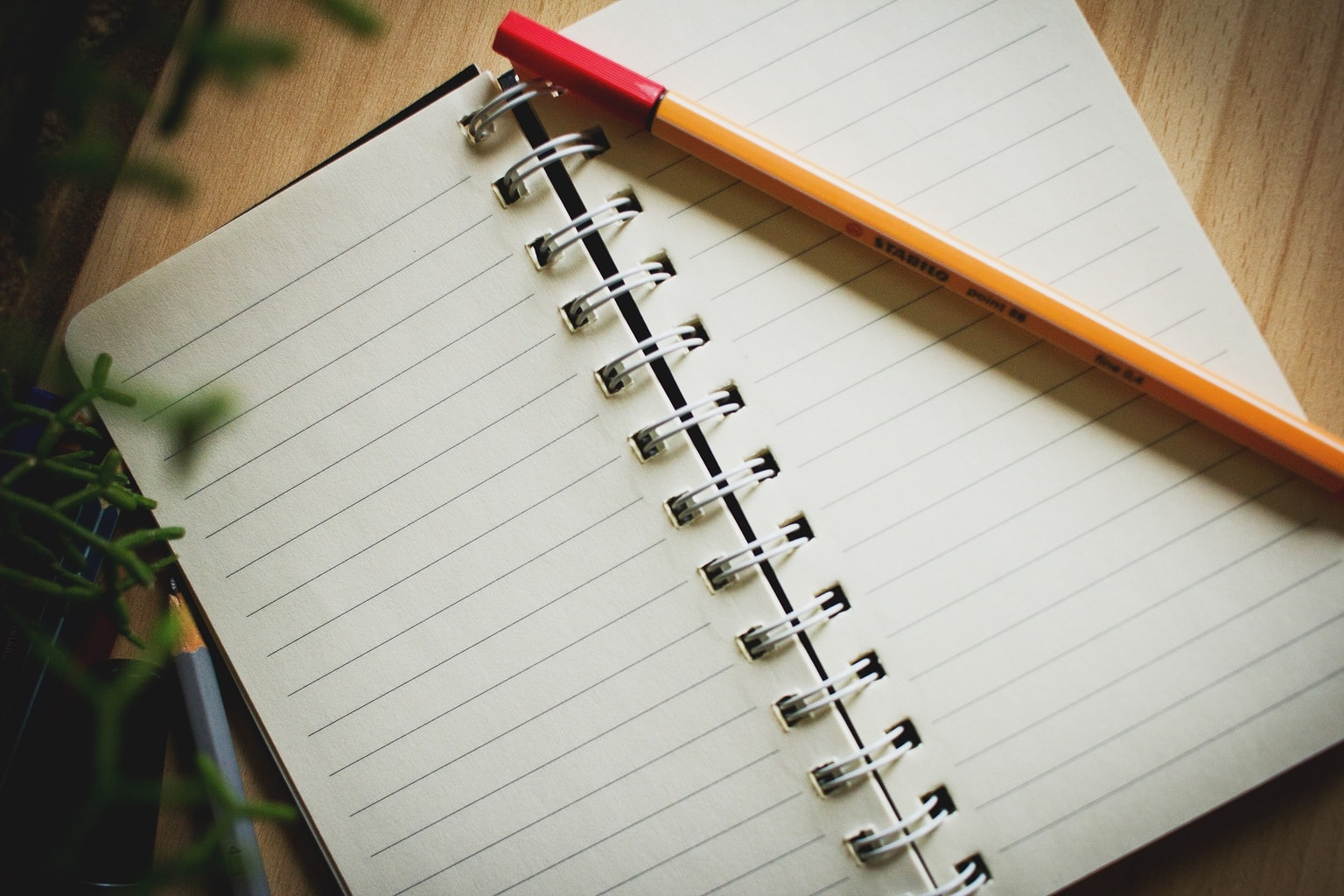 The first step to getting those ideas down is to open your notebook and get a writing utensil.