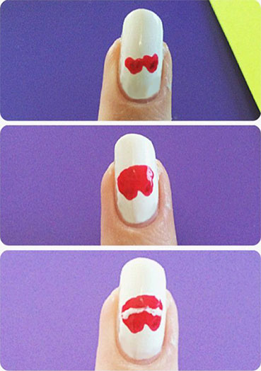 Blank space nails lips