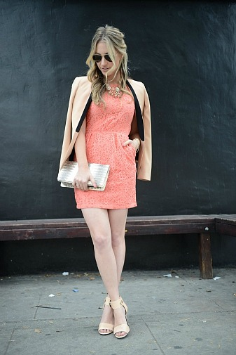 Blazer and tank dress outfit