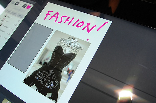 Photo of the Microsoft Printing Dress seen at the 59th Street Bloomingdales