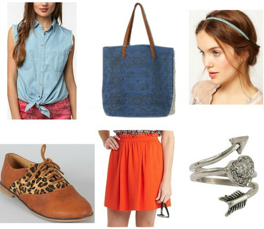 blue and orange outfit 2