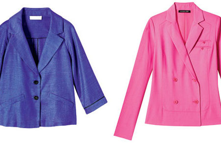Bright blue and pink blazers