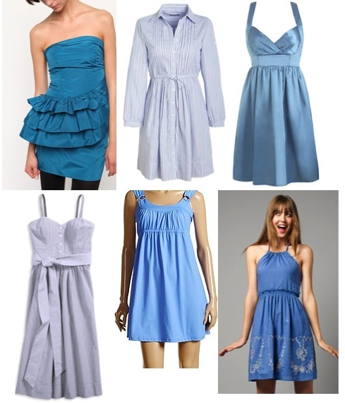blue dresses ex