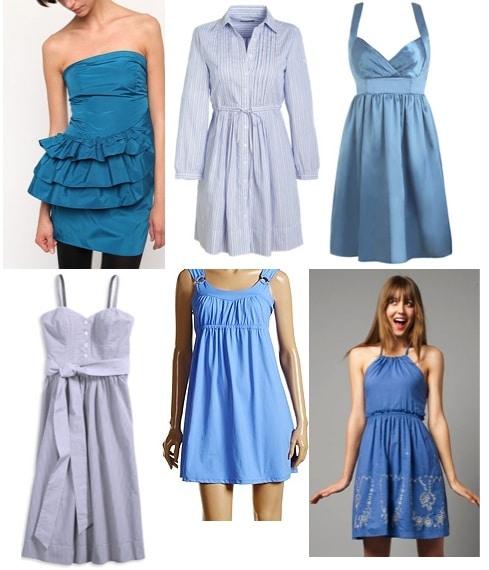 blue dresses ex