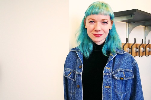 Blue hair at macalester college