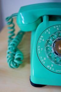 Blue telephone
